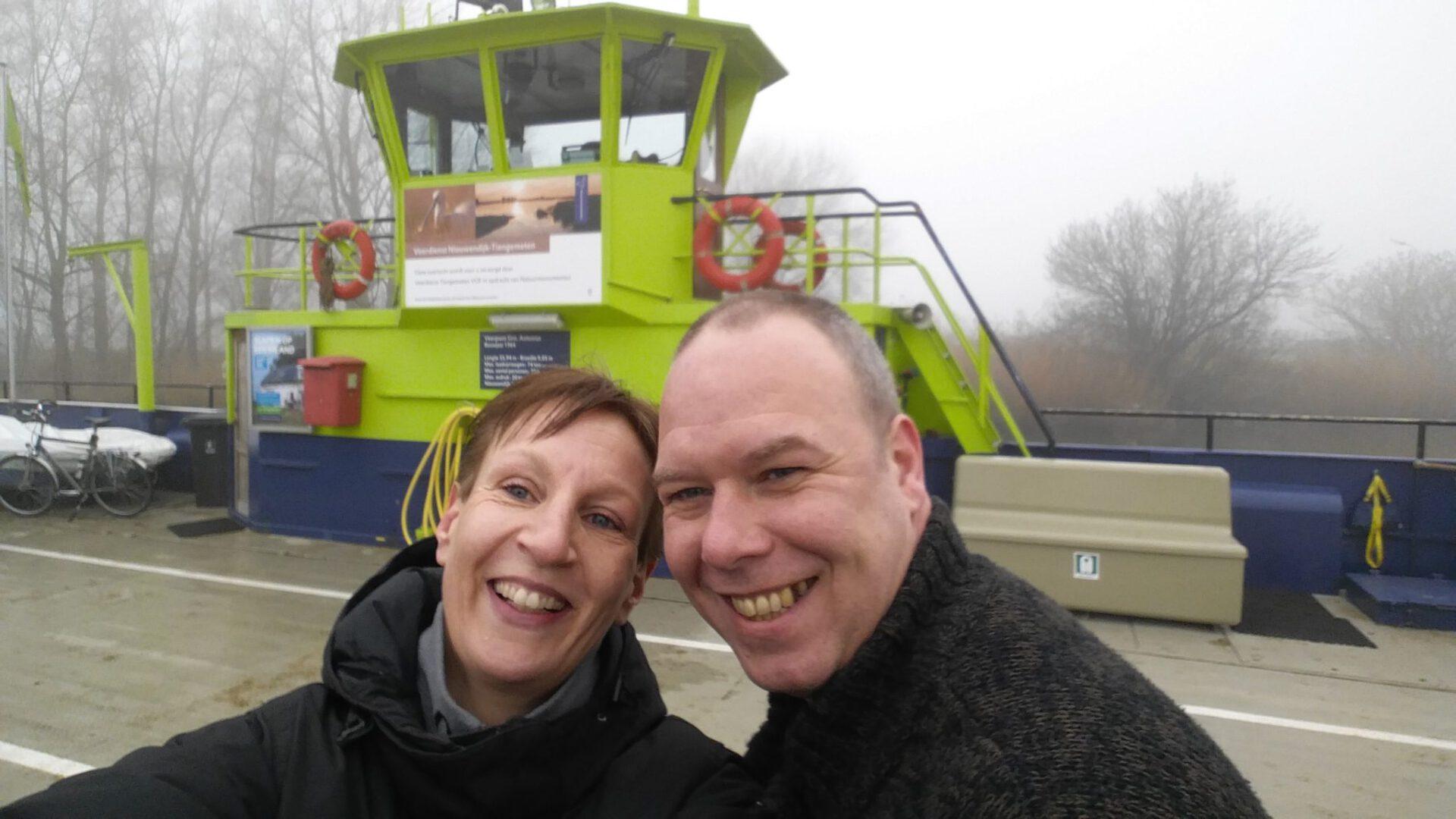 Selfie op de boot