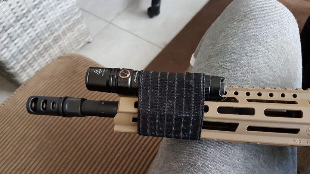 Creatie voor flash light op airsoft replica